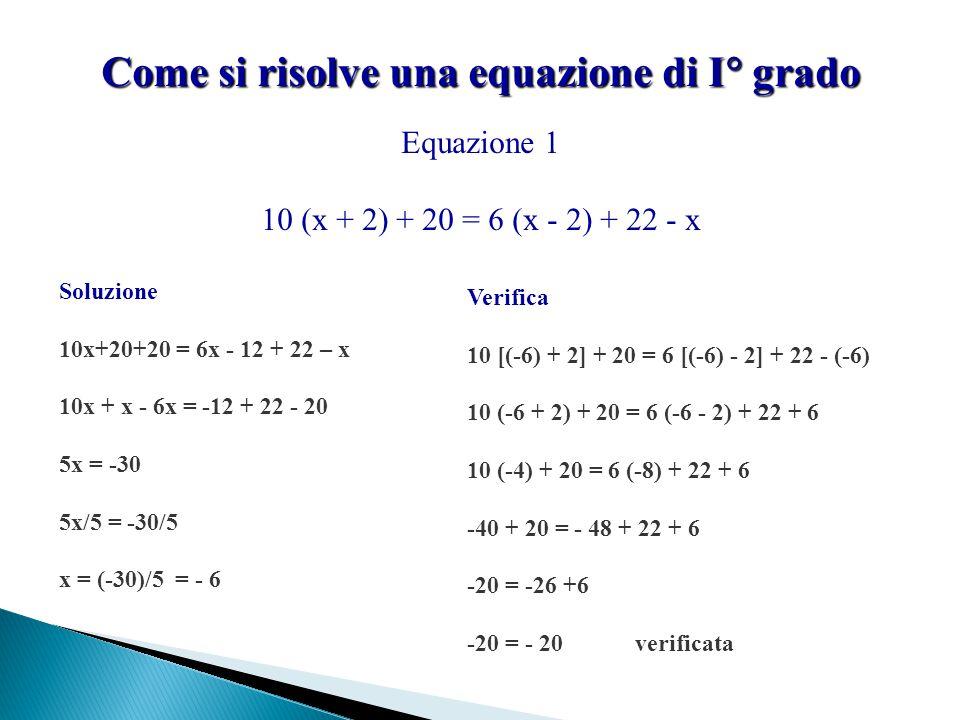 Come si risolve una equazione di I grado