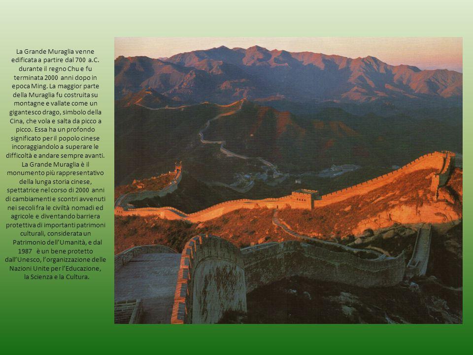 La Grande Muraglia venne edificata a partire dal 700 a. C