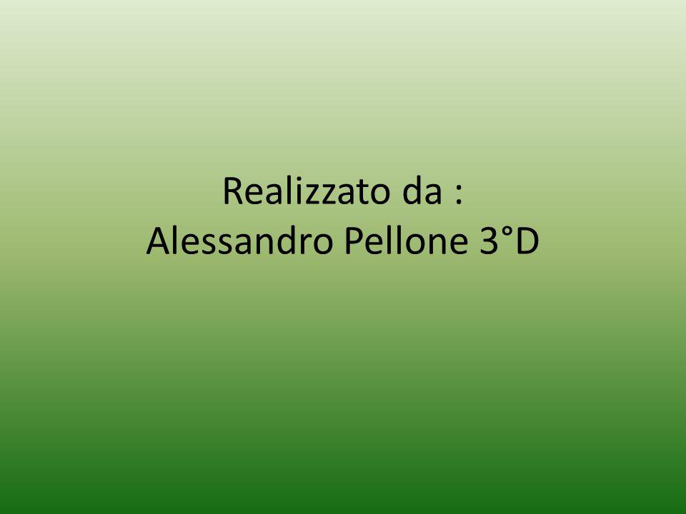 Realizzato da : Alessandro Pellone 3°D