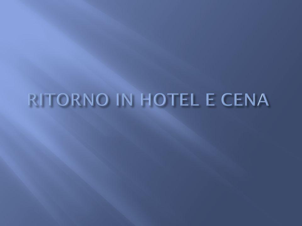 RITORNO IN HOTEL E CENA