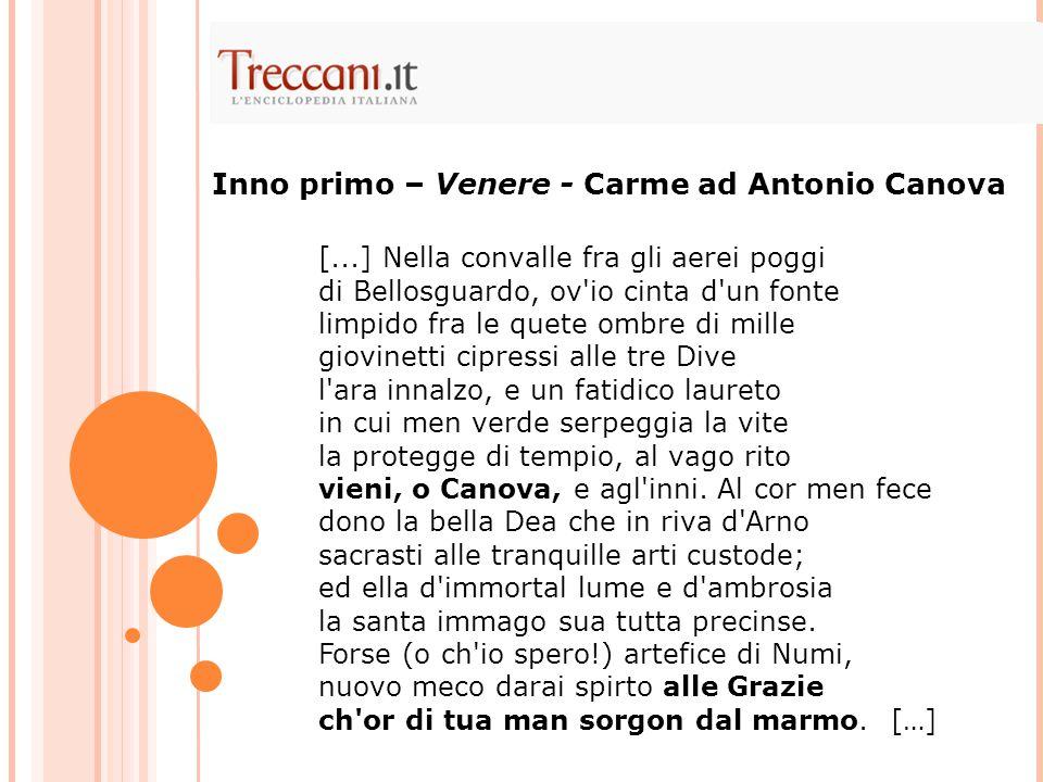Inno primo – Venere - Carme ad Antonio Canova