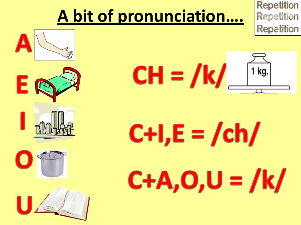 A bit of pronunciation….