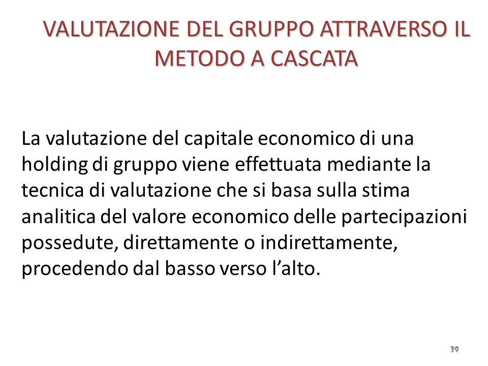 VALUTAZIONE DEL GRUPPO ATTRAVERSO IL METODO A CASCATA