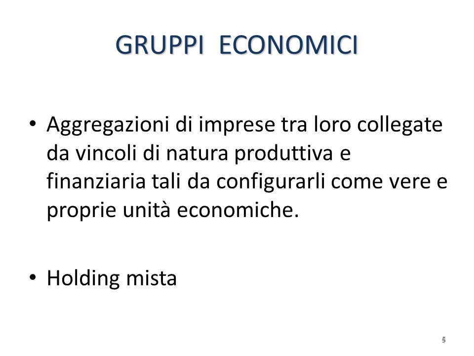 GRUPPI ECONOMICI