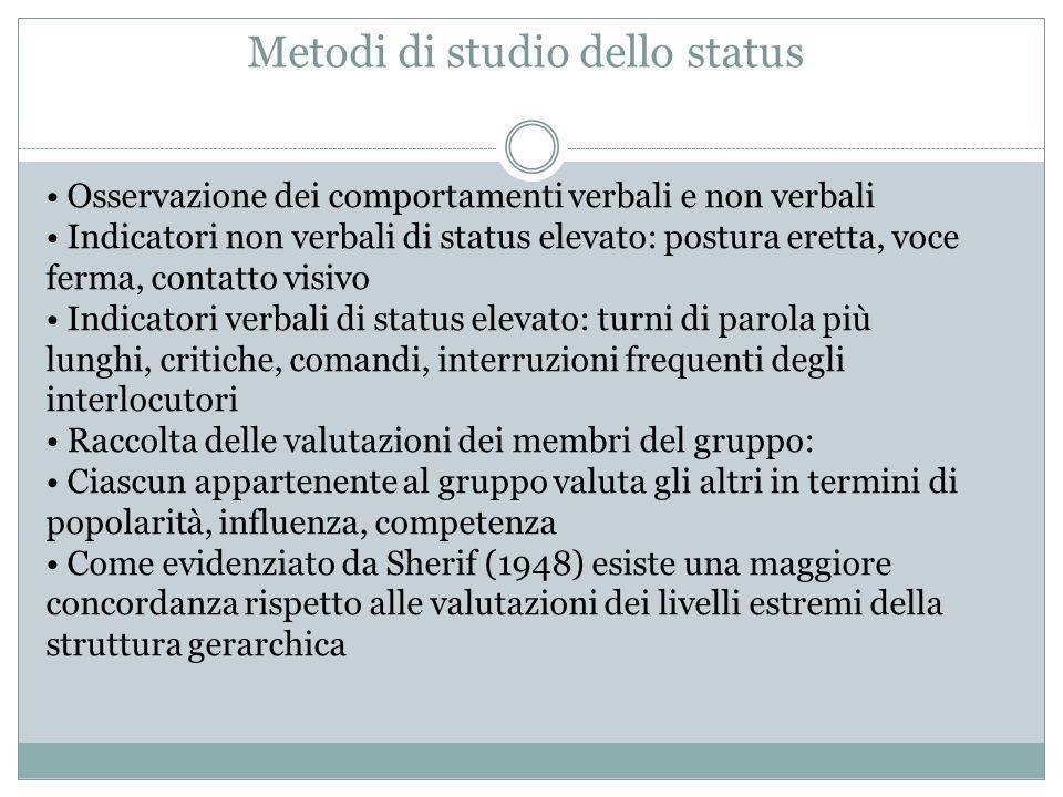 Metodi di studio dello status