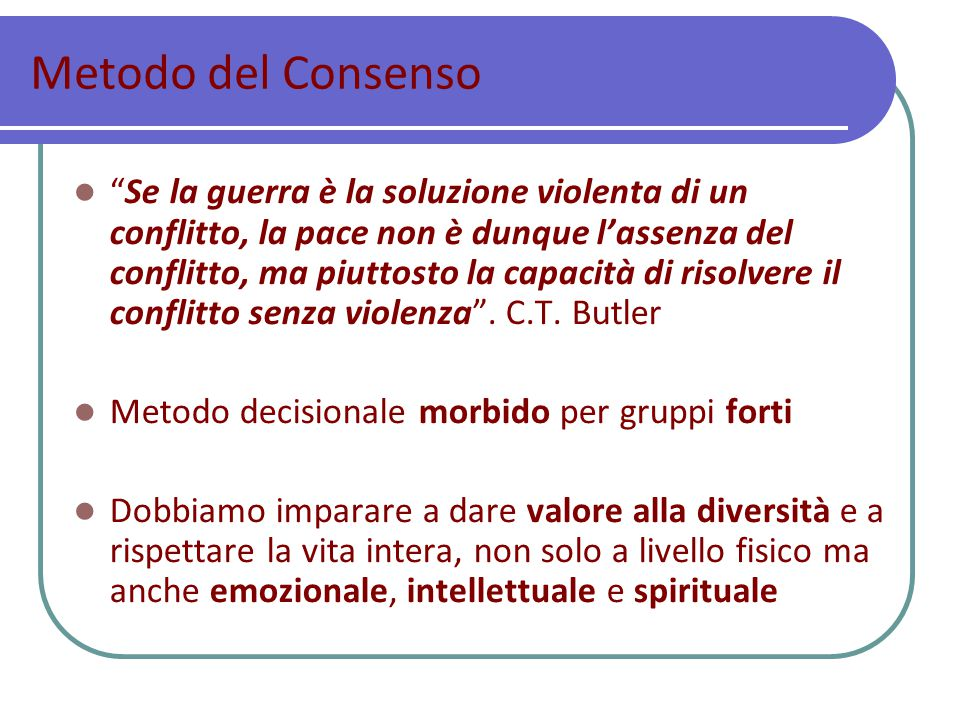 Metodo del Consenso