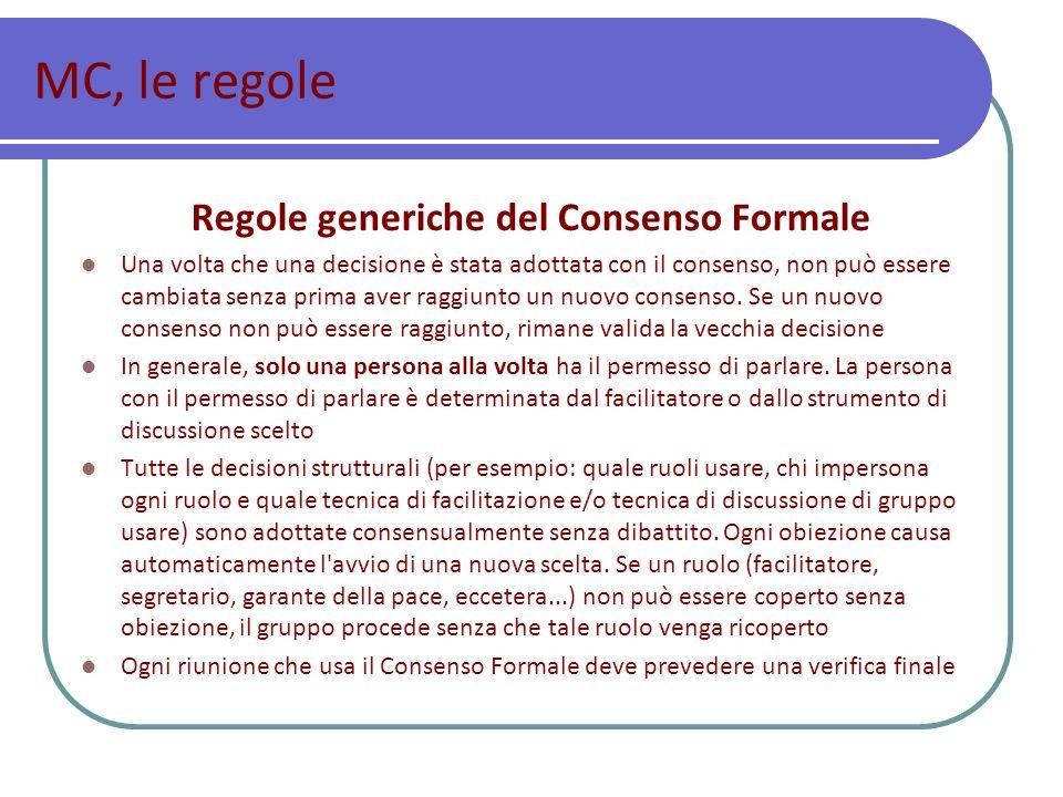 Regole generiche del Consenso Formale
