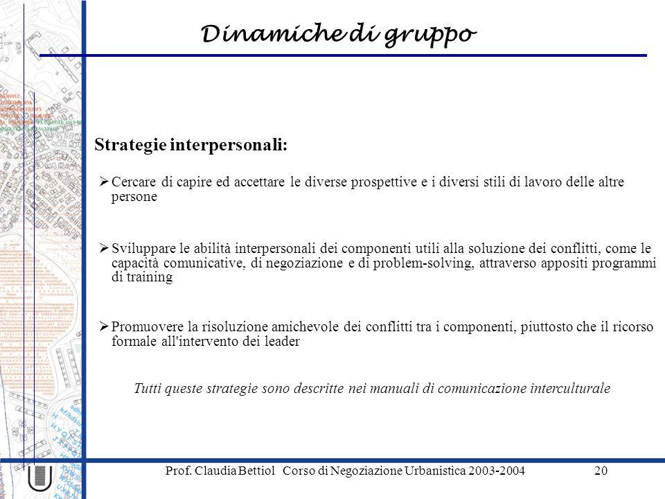 Strategie interpersonali: