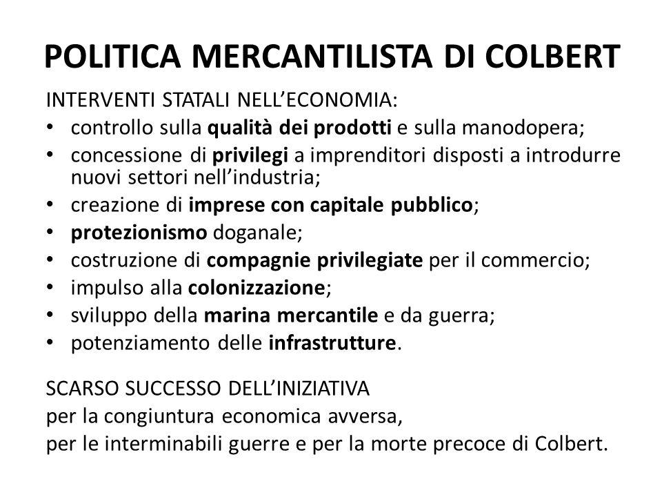 POLITICA MERCANTILISTA DI COLBERT