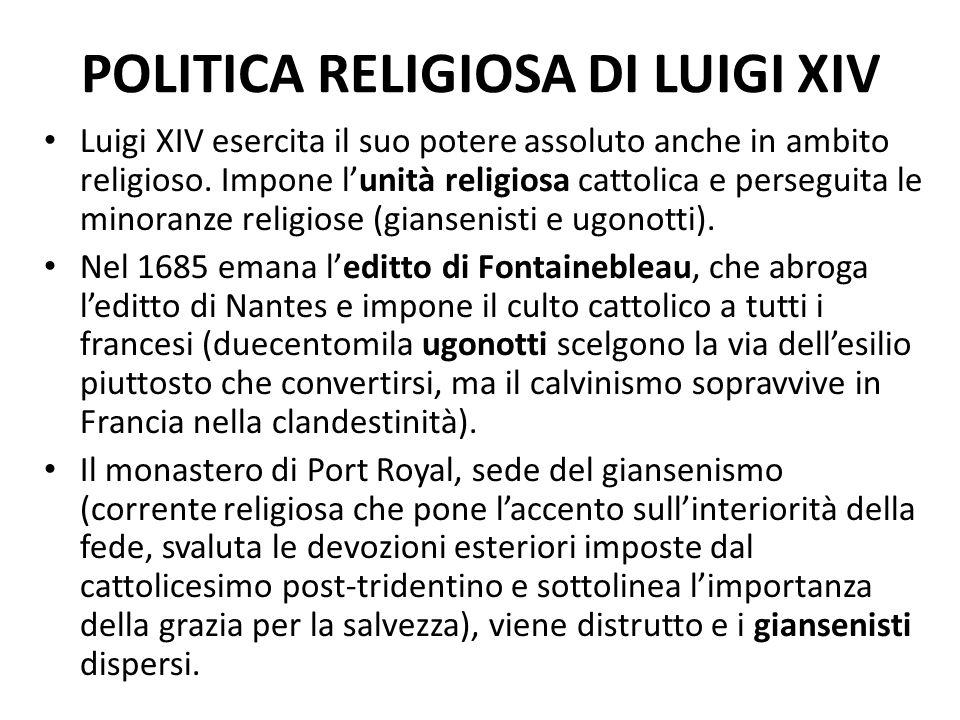 POLITICA RELIGIOSA DI LUIGI XIV