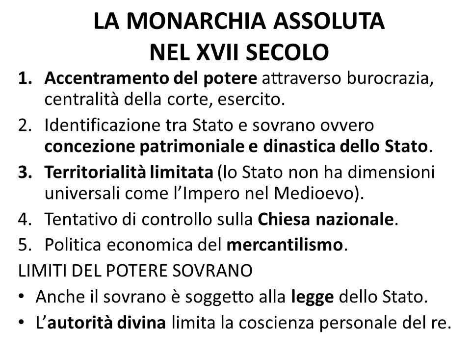 LA MONARCHIA ASSOLUTA NEL XVII SECOLO