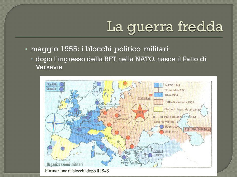 La guerra fredda maggio 1955: i blocchi politico militari