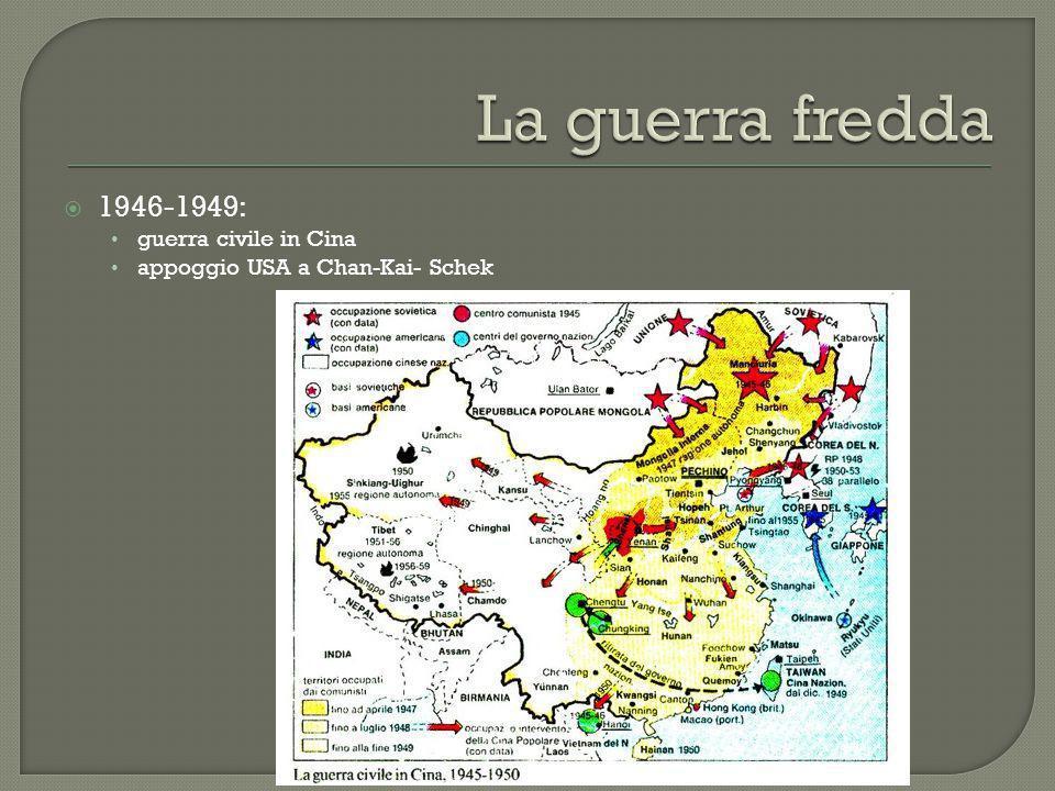 La guerra fredda 1946-1949: guerra civile in Cina