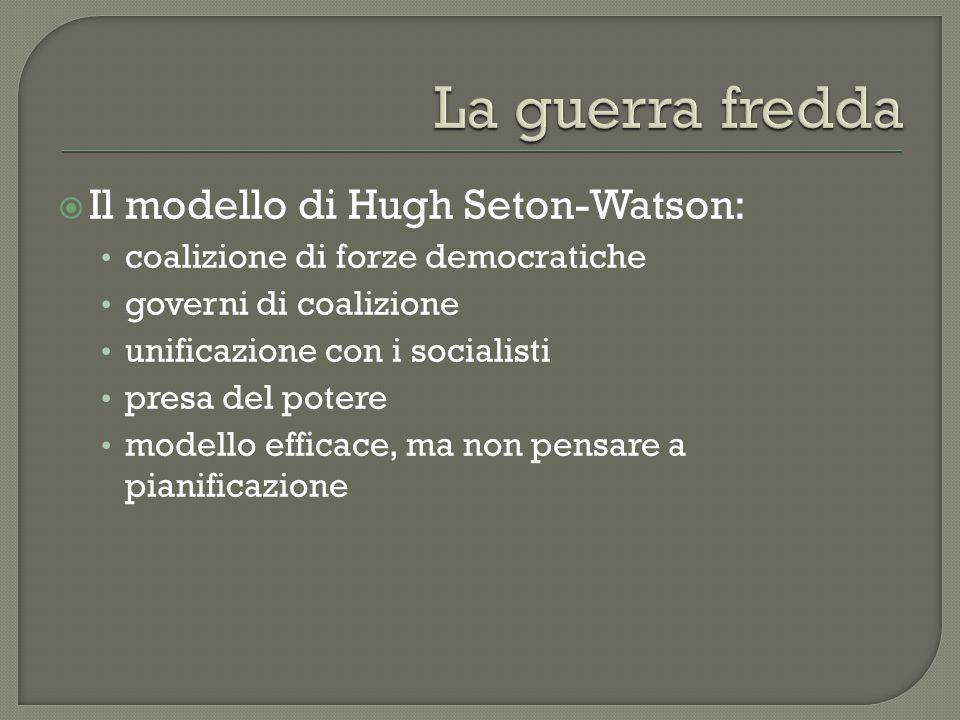La guerra fredda Il modello di Hugh Seton-Watson: