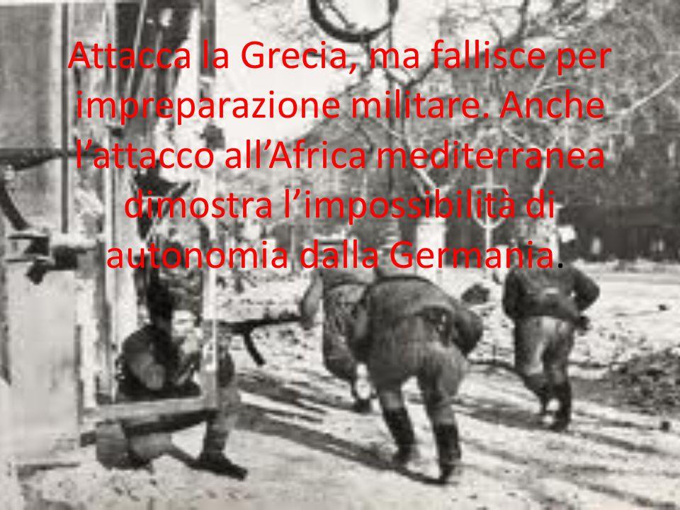 Attacca la Grecia, ma fallisce per impreparazione militare