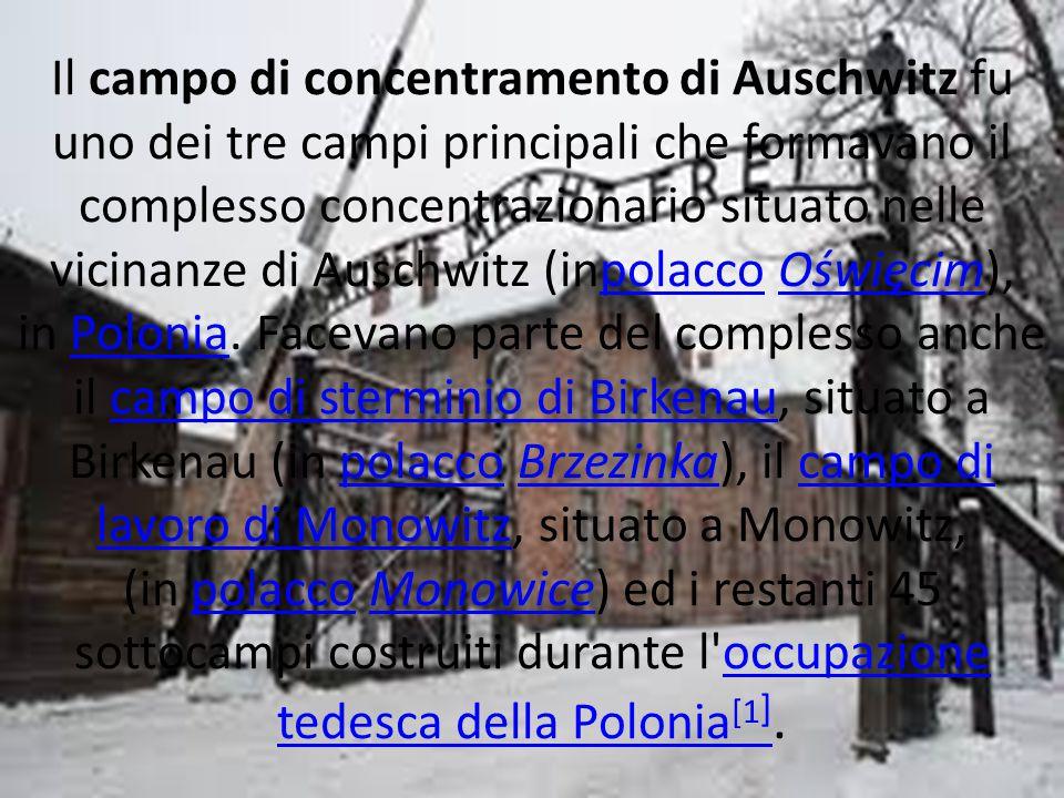 Il campo di concentramento di Auschwitz fu uno dei tre campi principali che formavano il complesso concentrazionario situato nelle vicinanze di Auschwitz (inpolacco Oświęcim), in Polonia.