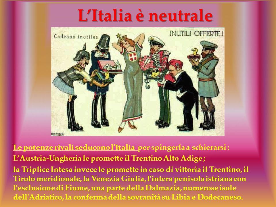 L'Italia è neutrale