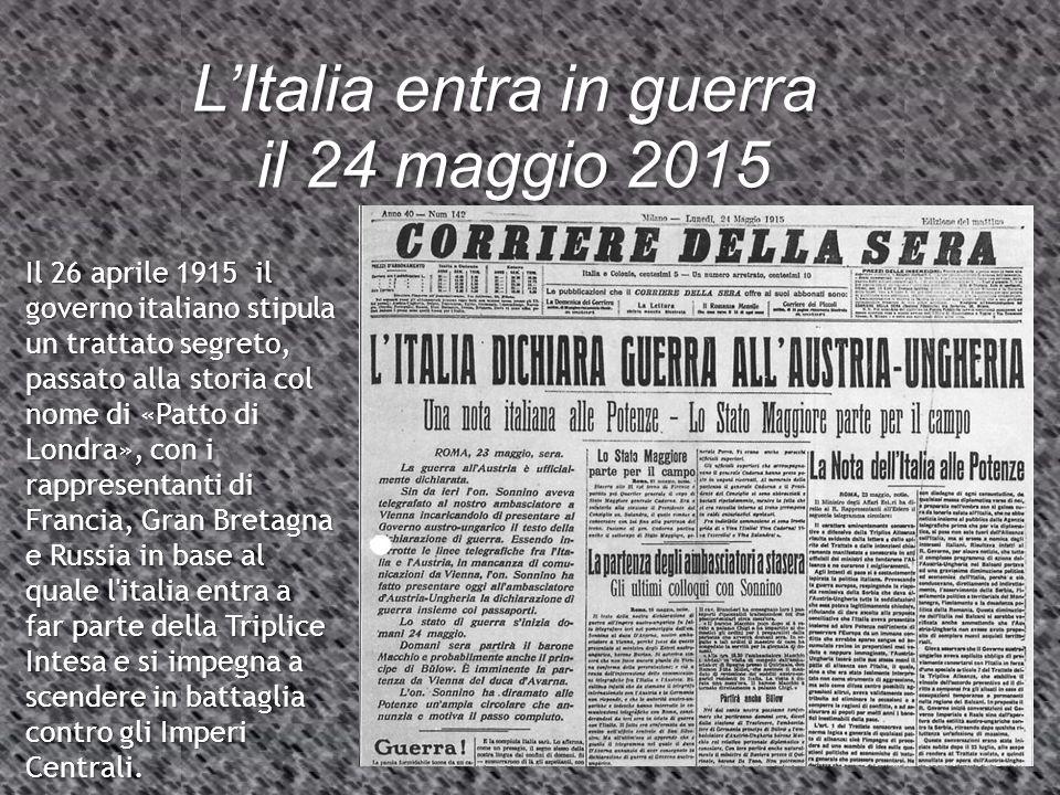 L'Italia entra in guerra il 24 maggio 2015