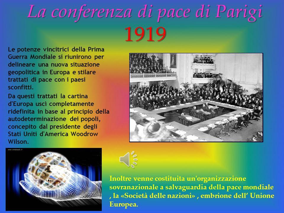La conferenza di pace di Parigi 1919