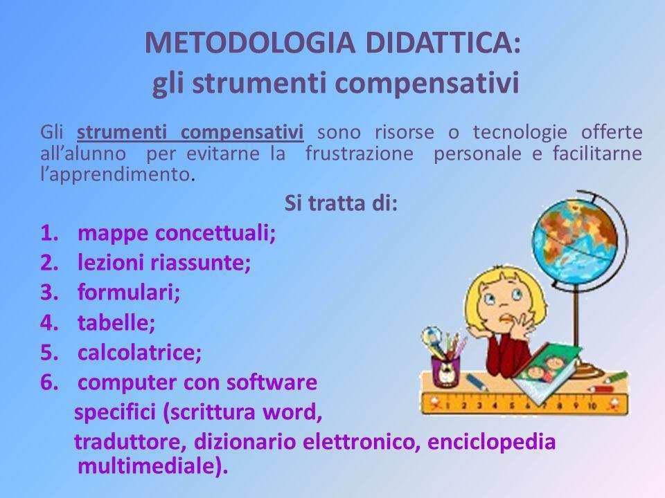 METODOLOGIA DIDATTICA: gli strumenti compensativi