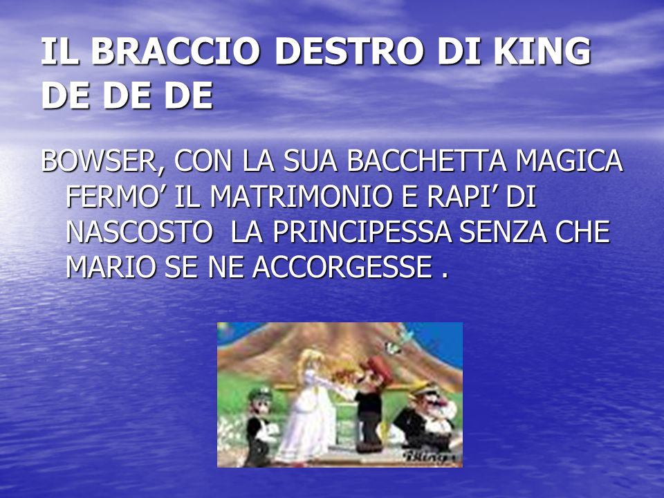 IL BRACCIO DESTRO DI KING DE DE DE