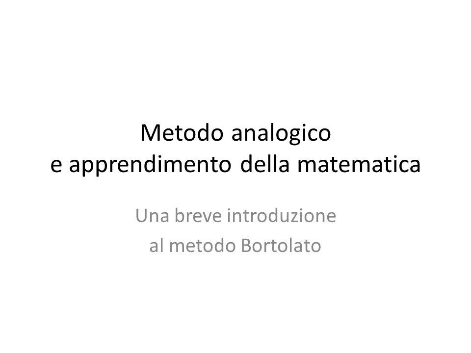 Metodo analogico e apprendimento della matematica