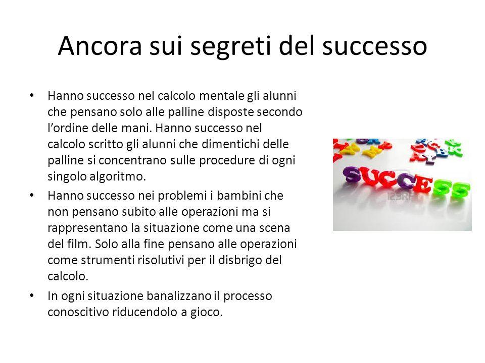 Ancora sui segreti del successo