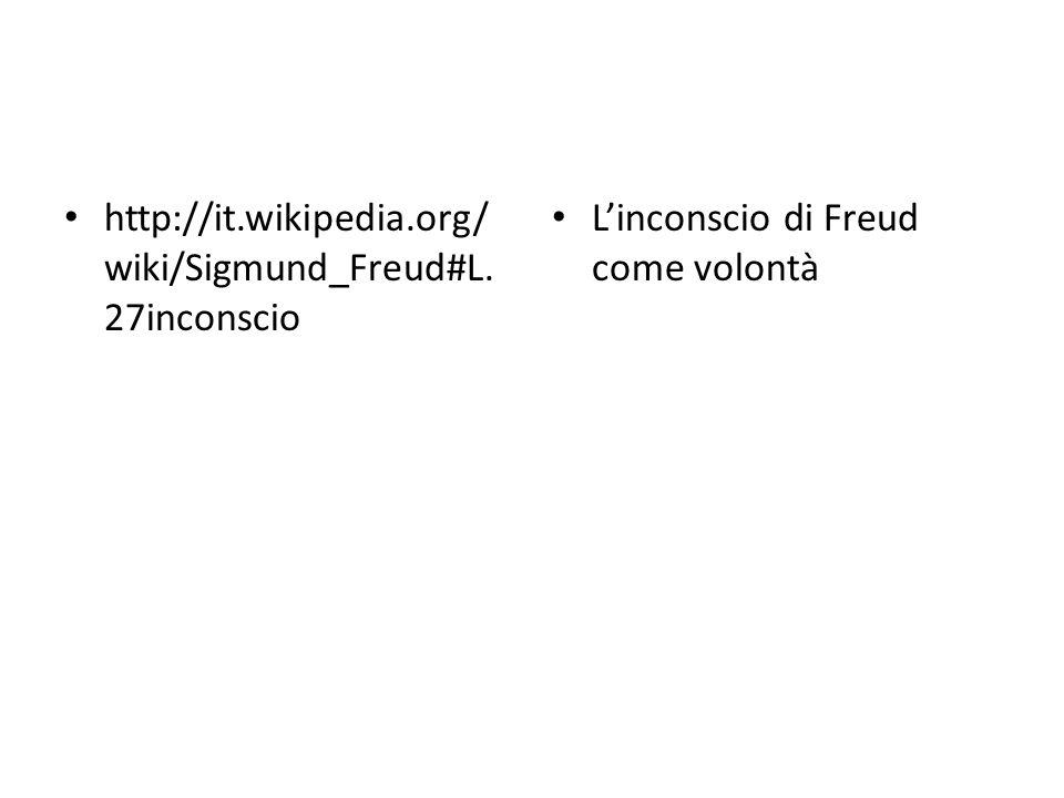 http://it.wikipedia.org/wiki/Sigmund_Freud#L.27inconscio L'inconscio di Freud come volontà