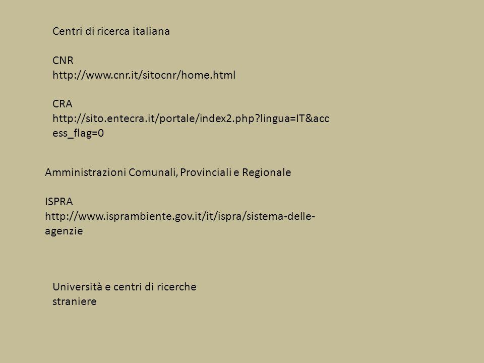 Centri di ricerca italiana