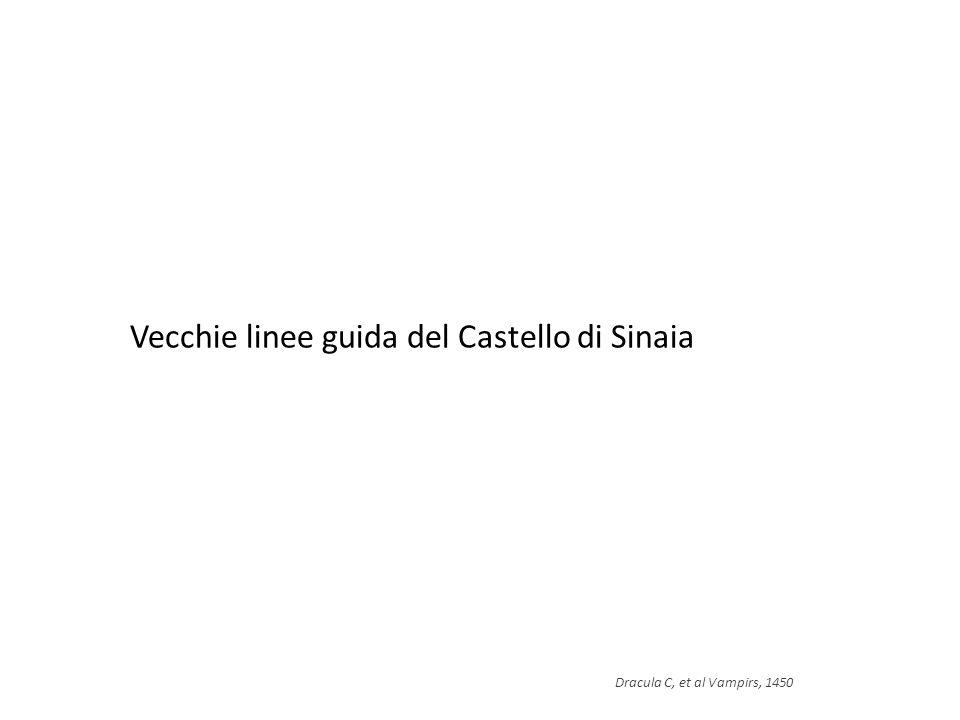 Vecchie linee guida del Castello di Sinaia