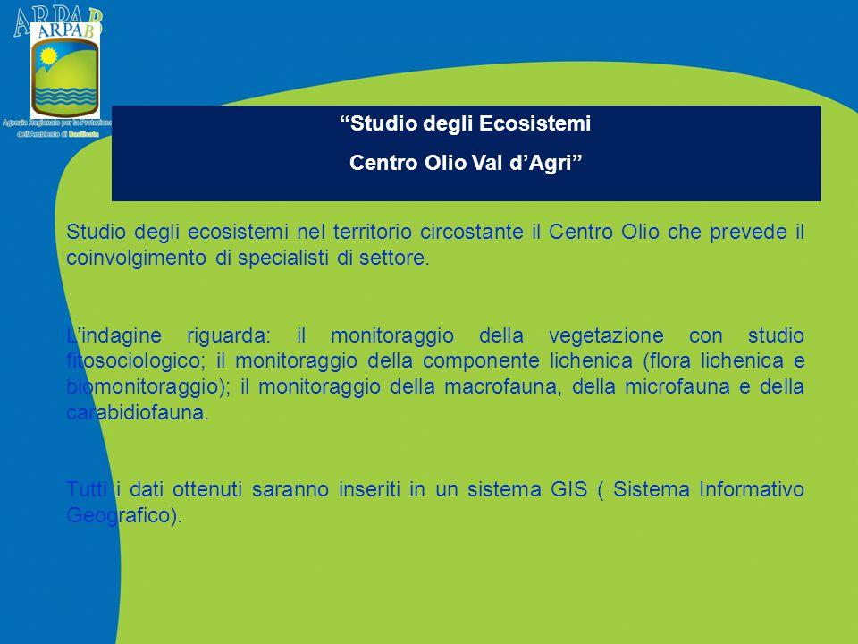 Studio degli Ecosistemi Centro Olio Val d'Agri