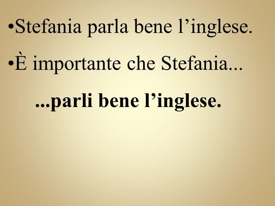 Stefania parla bene l'inglese.