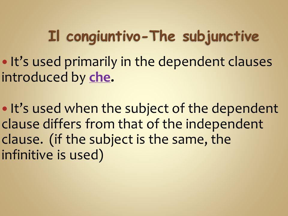 Il congiuntivo-The subjunctive