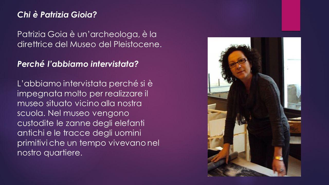 Chi è Patrizia Gioia Patrizia Goia è un'archeologa, è la direttrice del Museo del Pleistocene. Perché l'abbiamo intervistata