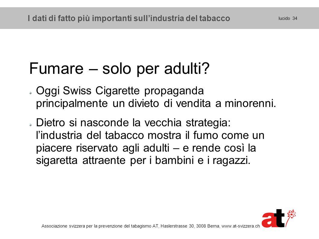 Fumare – solo per adulti