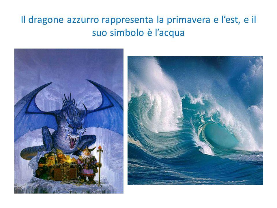Il dragone azzurro rappresenta la primavera e l'est, e il suo simbolo è l'acqua