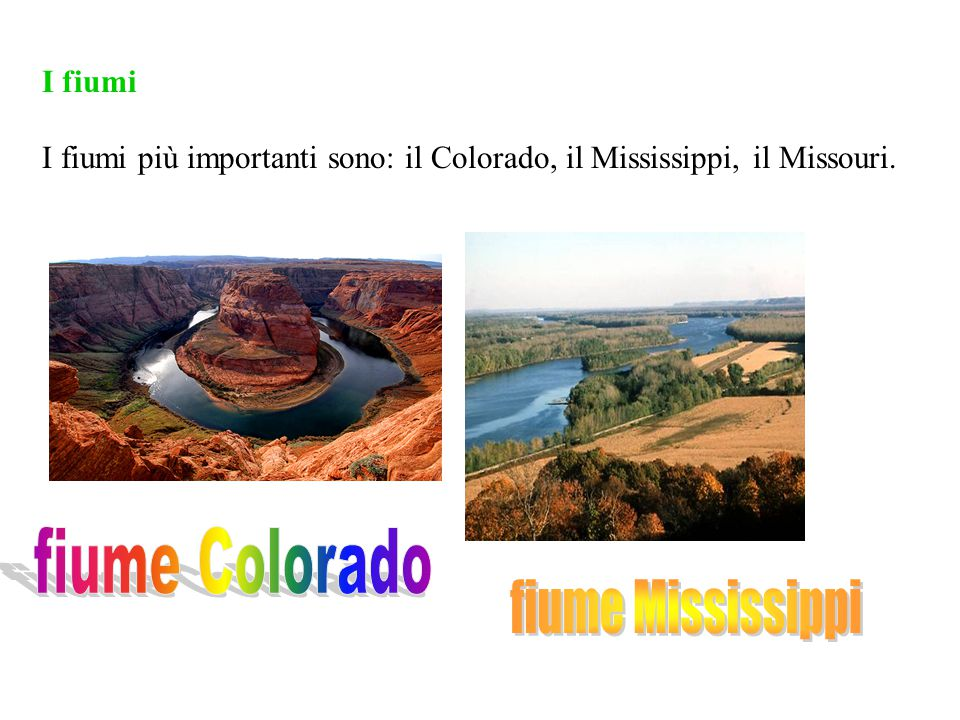 fiume Colorado fiume Mississippi I fiumi