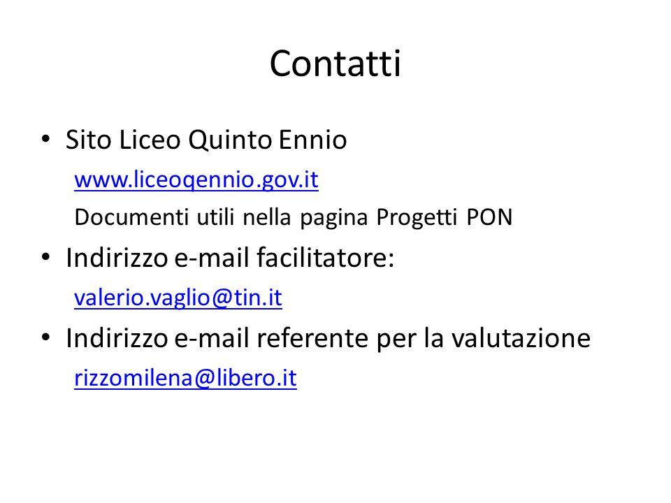 Contatti Sito Liceo Quinto Ennio Indirizzo e-mail facilitatore: