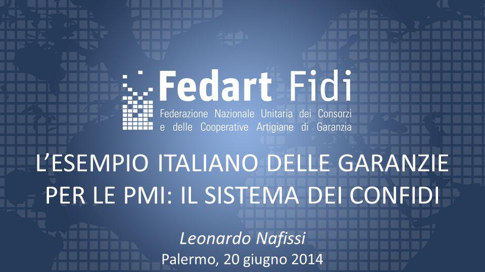 L'ESEMPIO ITALIANO DELLE GARANZIE PER LE PMI: IL SISTEMA DEI CONFIDI