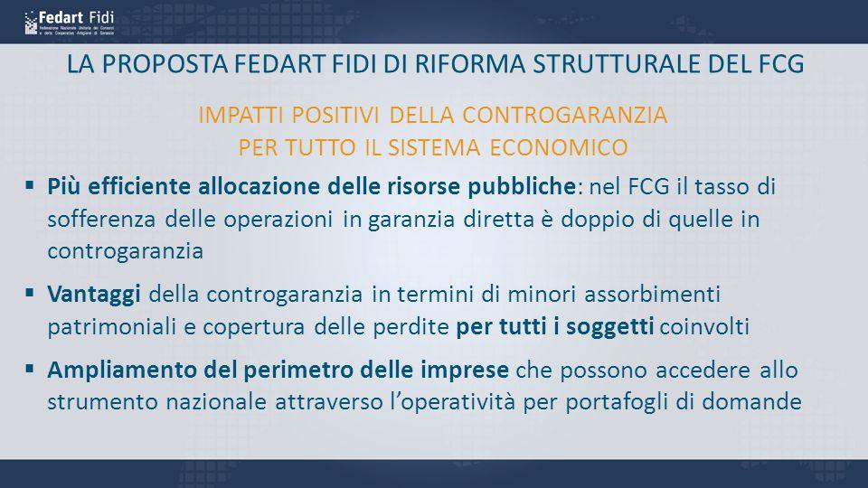 LA PROPOSTA FEDART FIDI DI RIFORMA STRUTTURALE DEL FCG