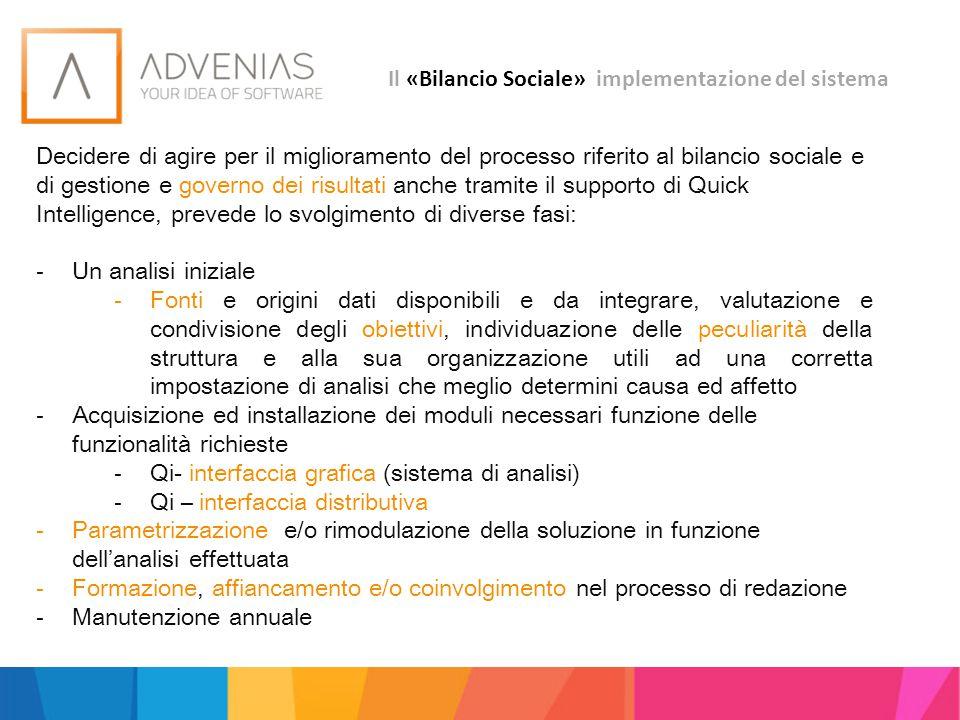 Il «Bilancio Sociale» implementazione del sistema