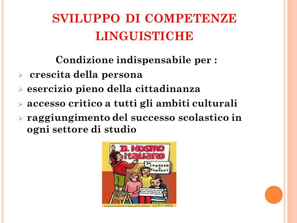 sviluppo di competenze linguistiche