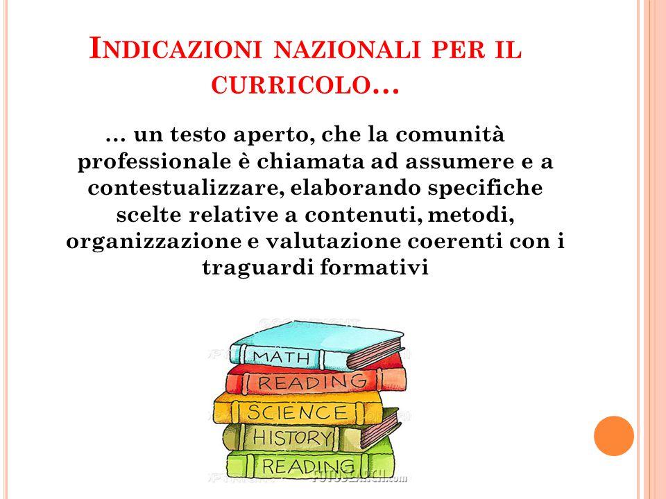 Indicazioni nazionali per il curricolo…