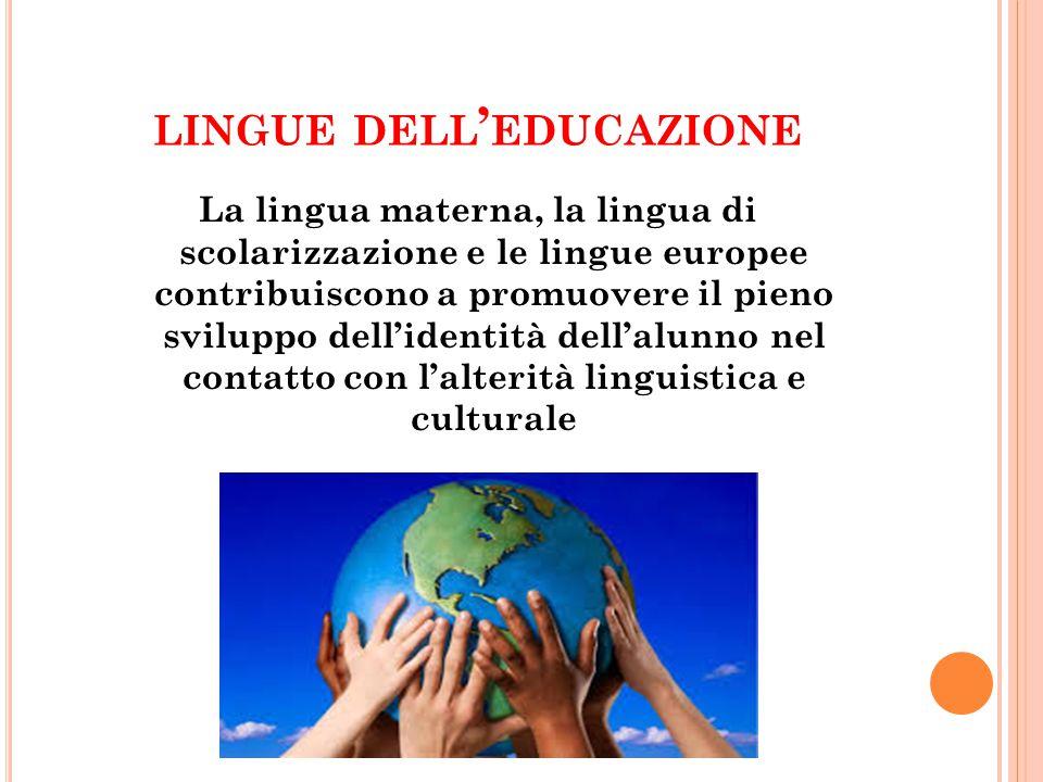 lingue dell'educazione