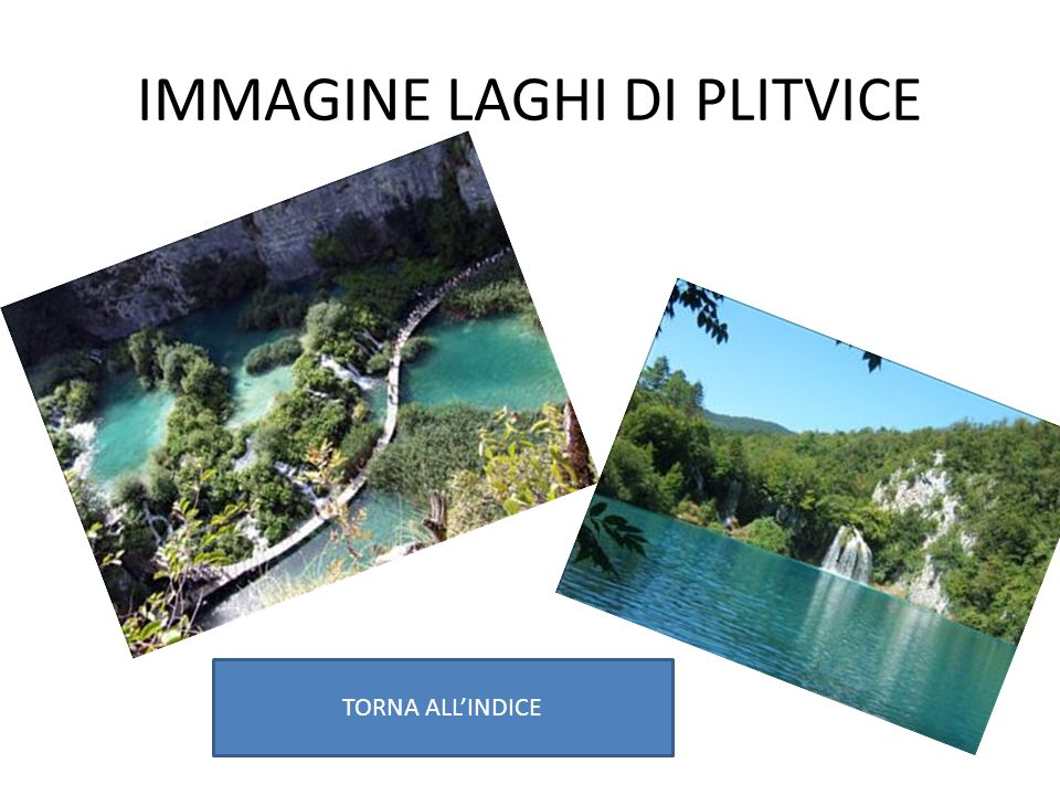 IMMAGINE LAGHI DI PLITVICE