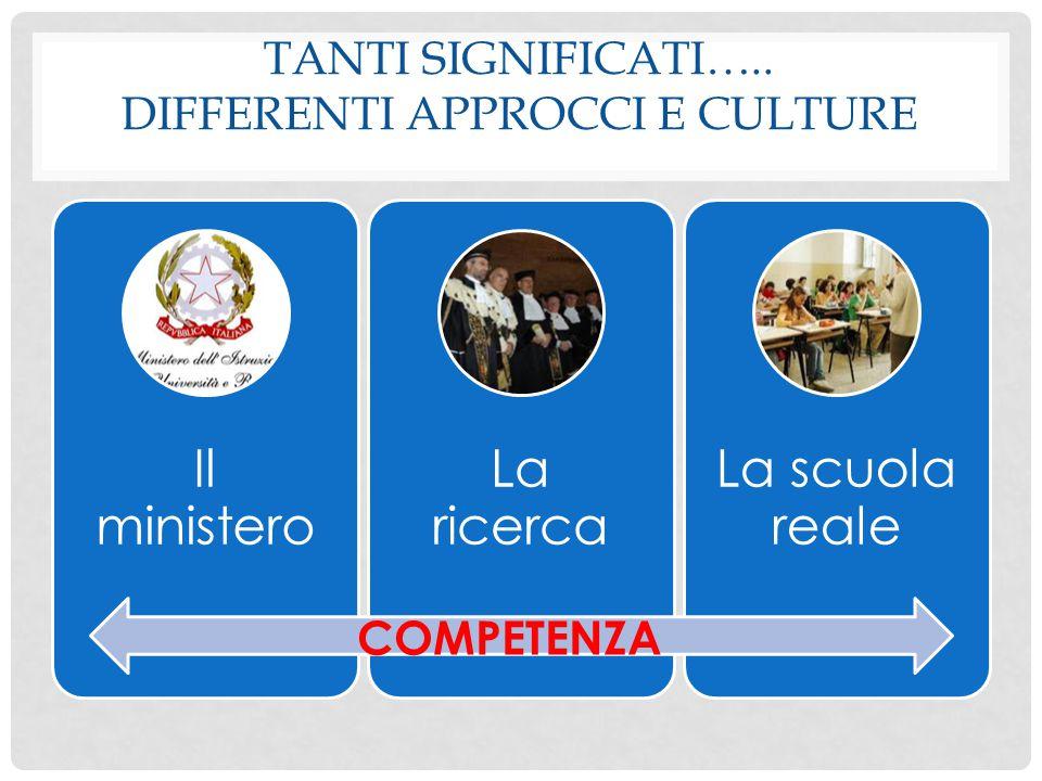 Tanti significati….. Differenti approcci e culture