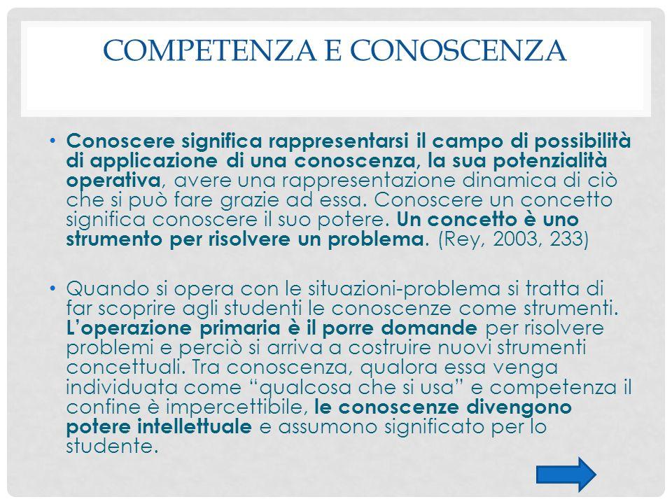 Competenza e conoscenza