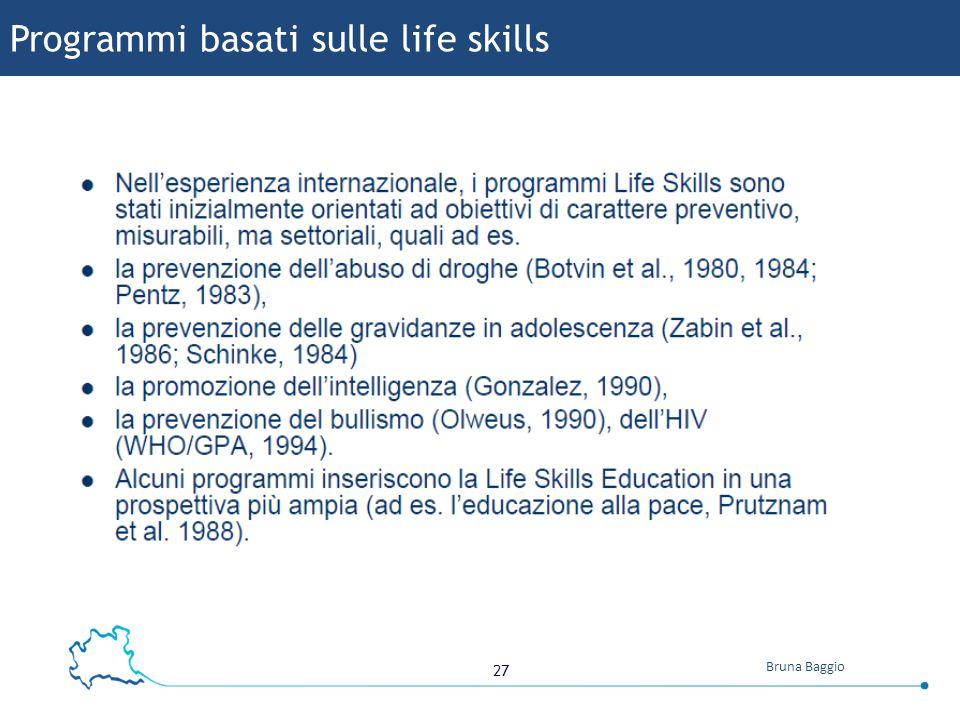 Programmi basati sulle life skills
