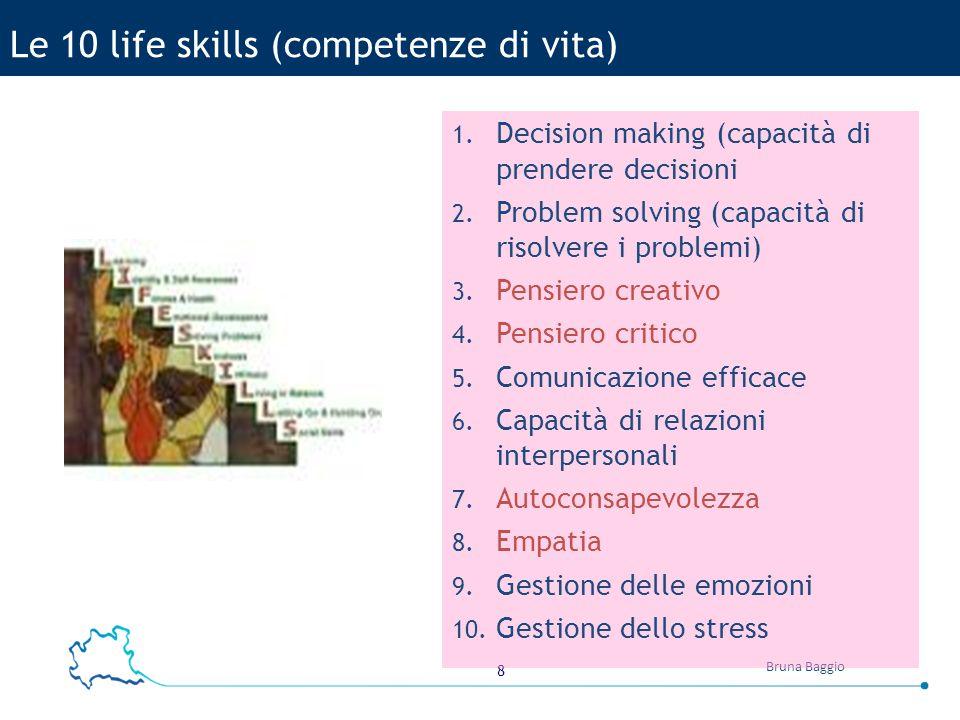 Le 10 life skills (competenze di vita)