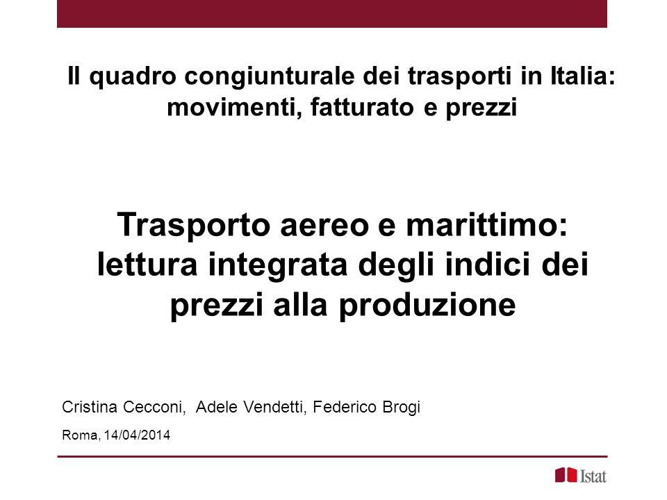 Il quadro congiunturale dei trasporti in Italia:
